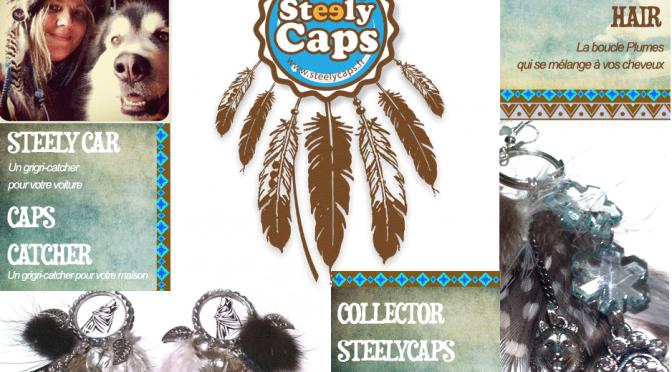 "Les bijoux capsules & plumes ""STEELYCAPS"""